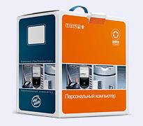 Тим Компьютерс - разработка упаковки компьютерной коробки|
